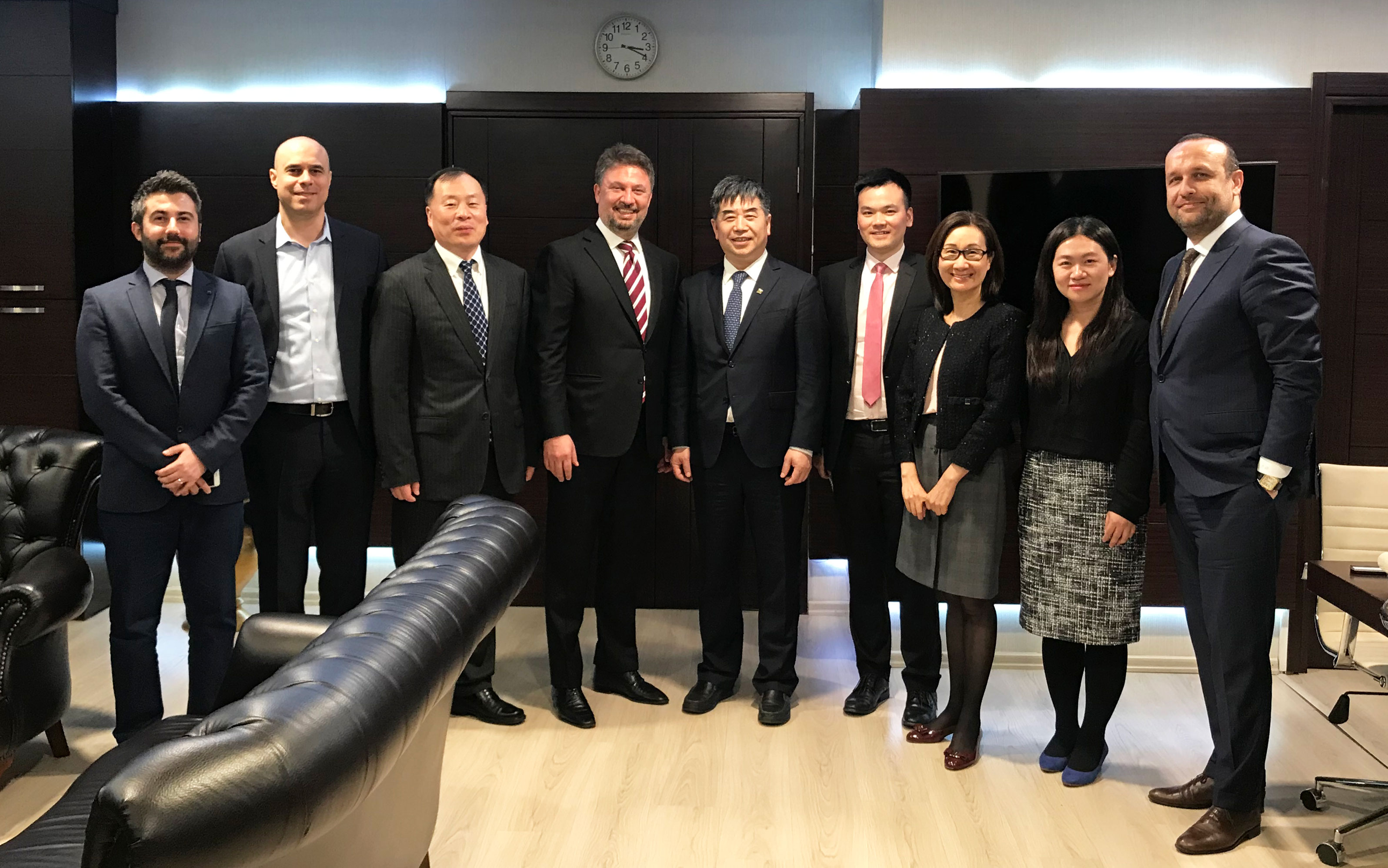 Shanghai Gold Exchange Chairman of (Mr. JIAO Jinpu) Visit to Istanbul Gold Refinery.